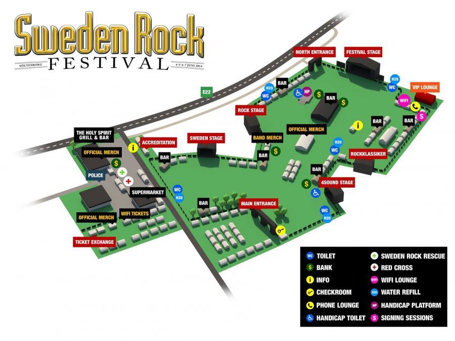 Agenda ConcertsMetal Sweden Rock Festival - Map sweden 2014