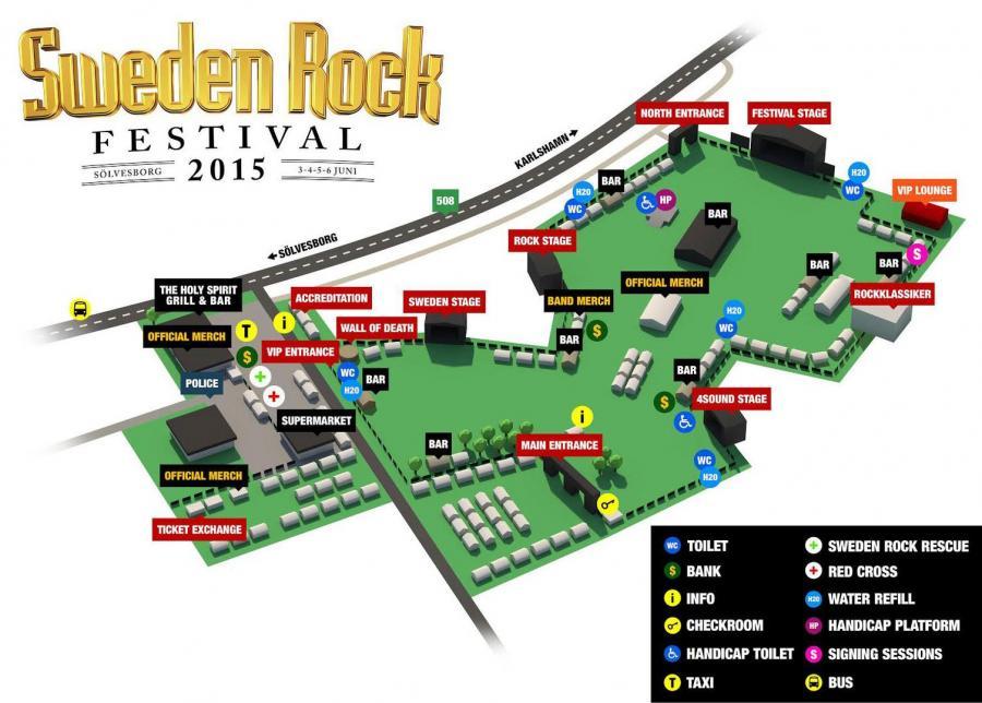 Agenda ConcertsMetal Sweden Rock Festival - Sweden map 2015