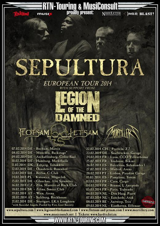Sepultura European Tour