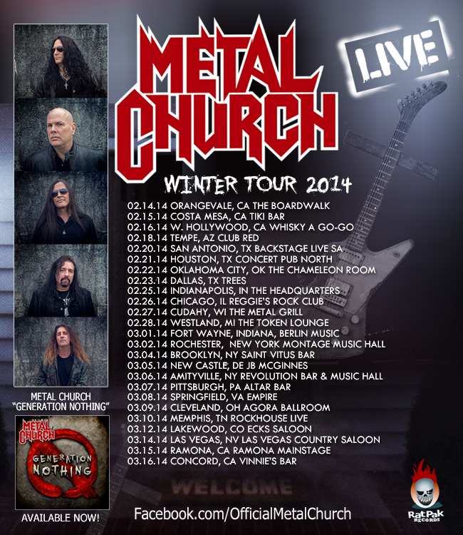 Metal Church Tour 2014