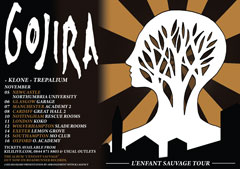 Gojira UK Tour 2012