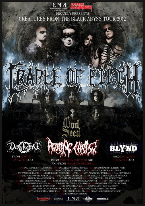Cradle of Filth Tour 2012