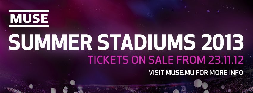 Muse Stadium Tour 2013