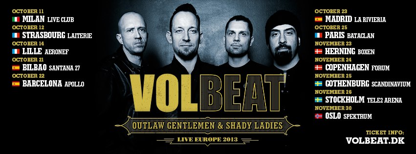 Volbeat Live Europe 2013