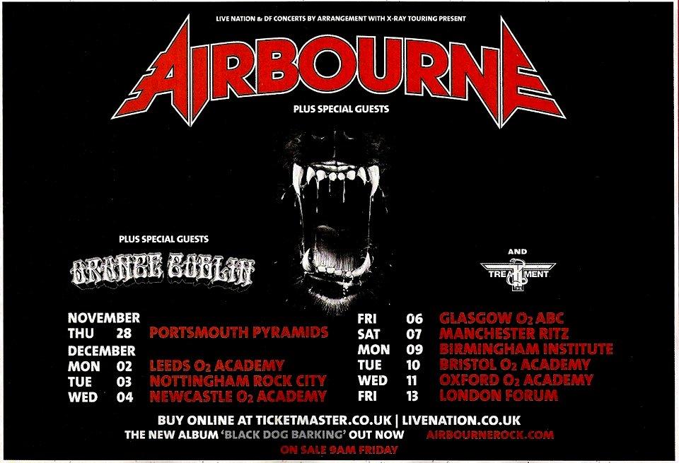 Agenda Concerts-Metal   Airbourne Tour 2013 - 09/12/2013