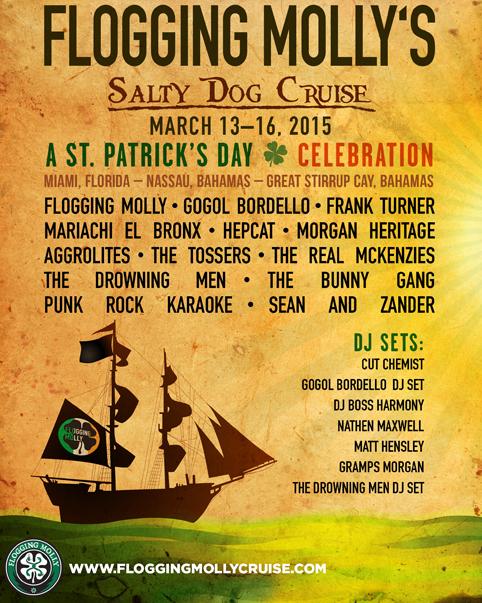 Flogging Molly Cruise 2020.Flogging Molly S Cruise 13 03 2015 4 Days Miami