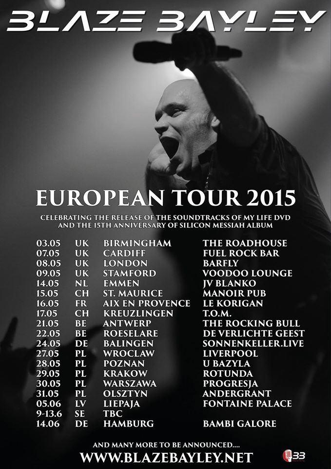 Blaze Bayley - Tour 2015