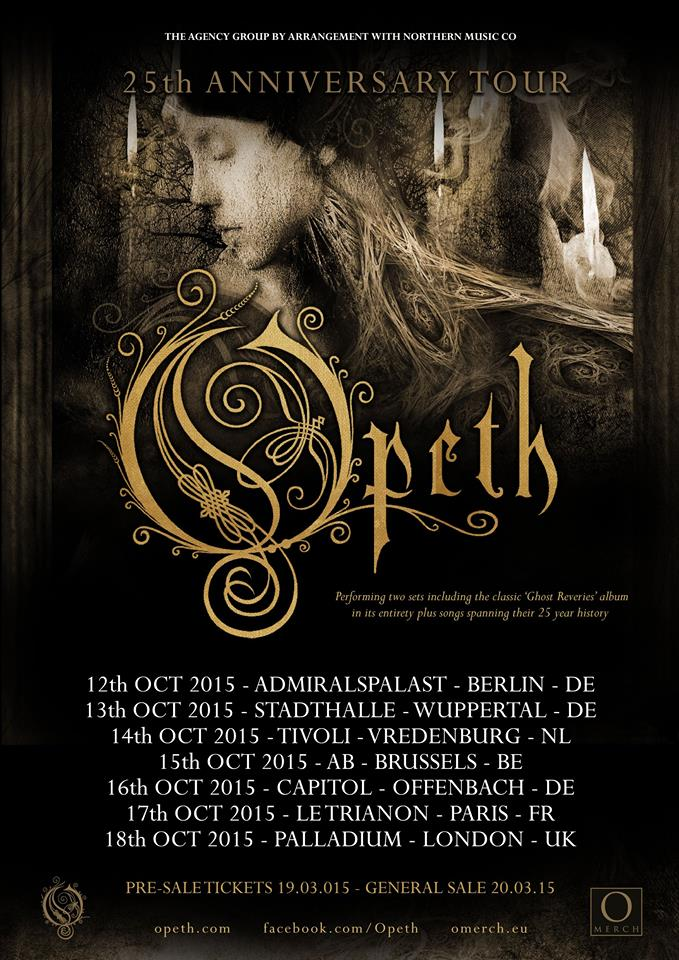 Opeth 25th anniversary Tour