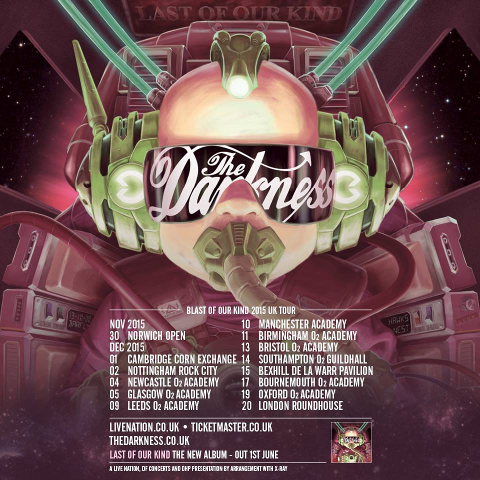 The Darkness UK Tour 2015