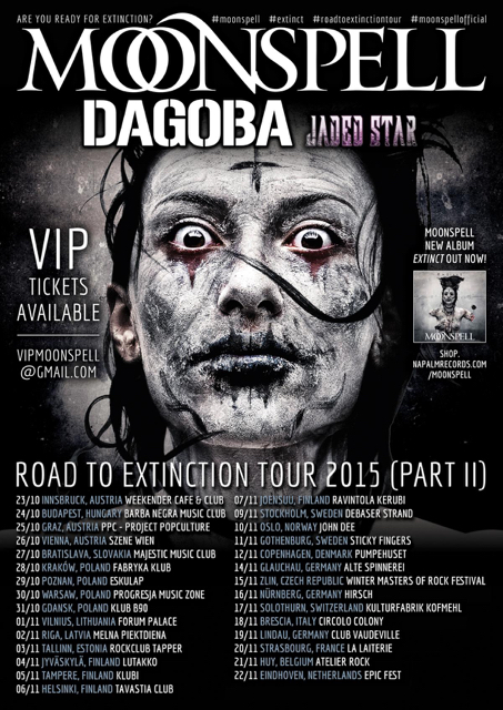 Moonspell + Dagoba Tour