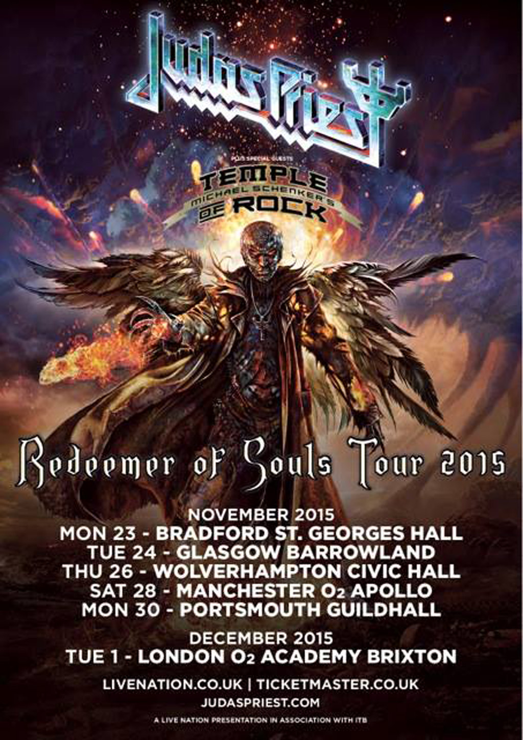 Judas Priest 2015 Tour