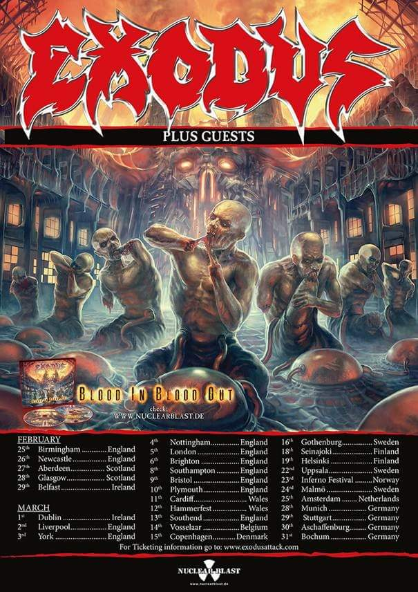 Exodus - European Tour 2016