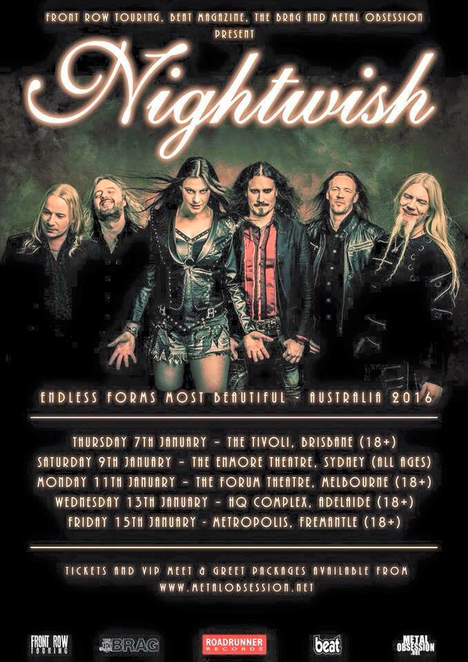 Nightwish Tour 2020.Nightwish Tour 2016 15 01 2016 Fremantle Western