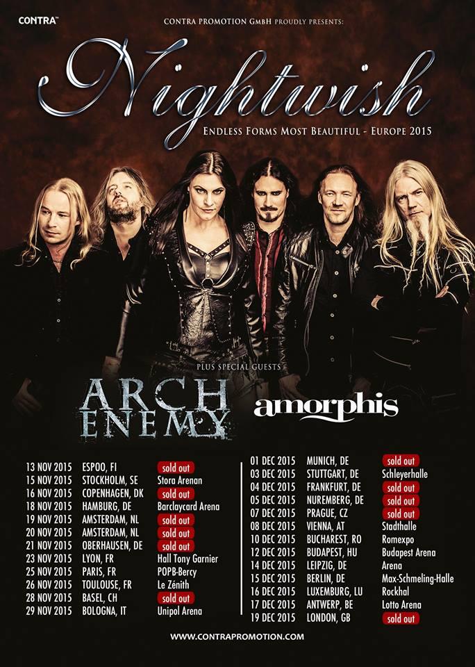 Nightwish Tour 2020.Nightwish Tour 2015 12 12 2015 Budapest Hungary