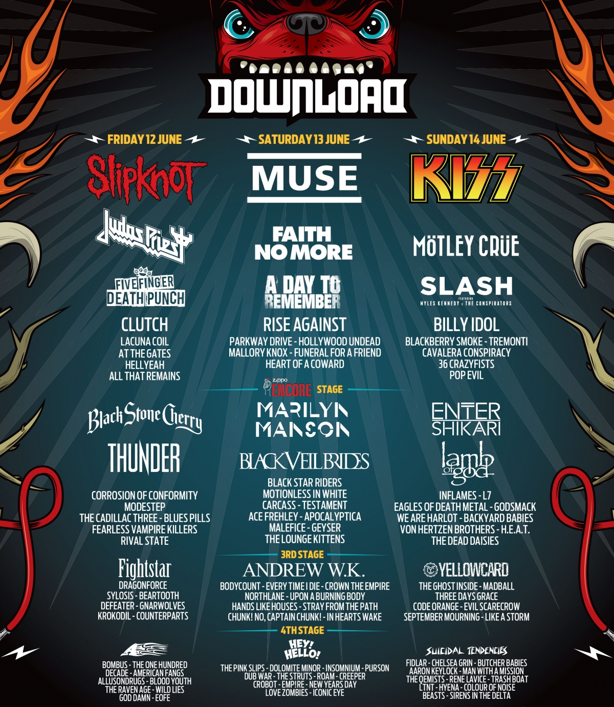 Extrêmement Agenda Concerts-Metal | Download Festival 2015 - 12/06/2015 (3  JC98