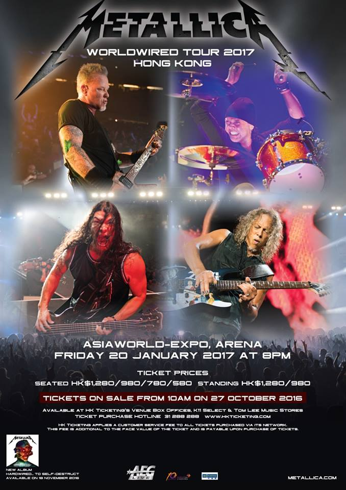 Metallica World Tour 2017 20 01 2017 Hong Kong Chine