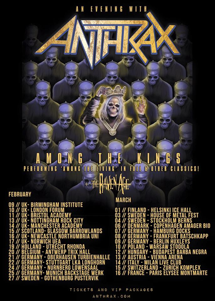 Anthrax - Tour 2017