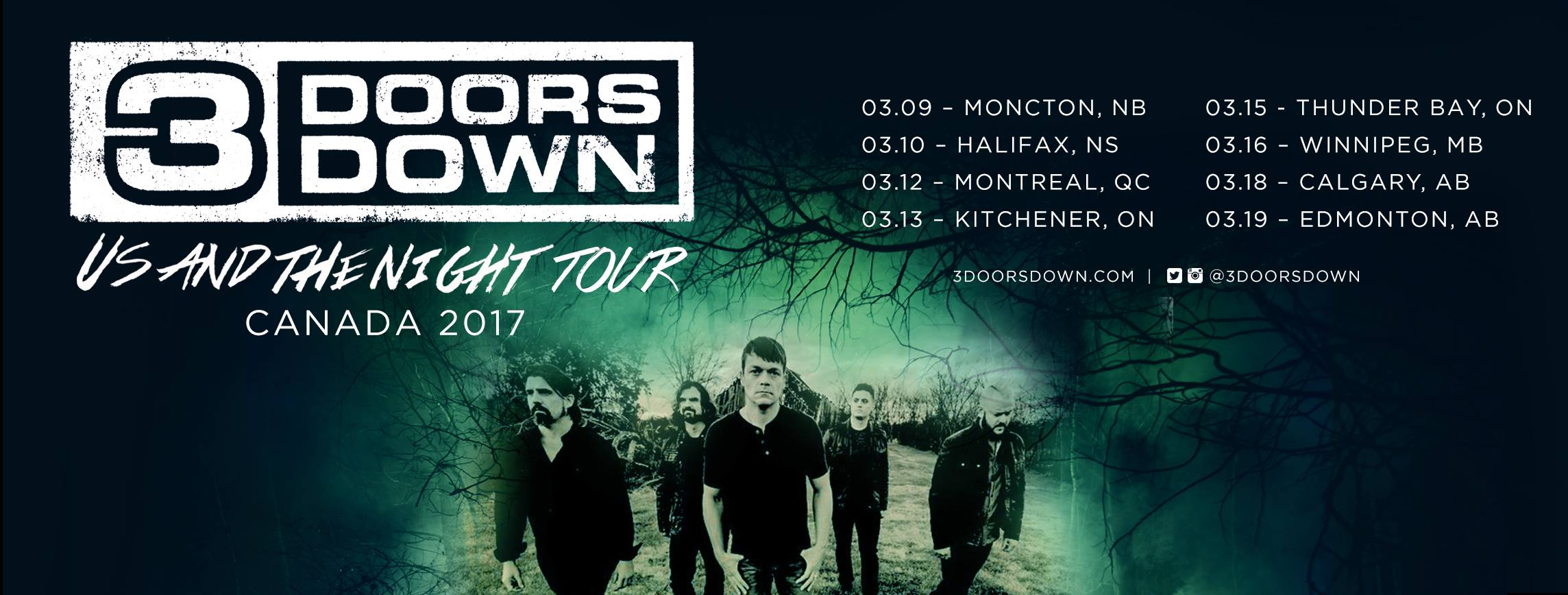3 Doors Down - Tour 2017