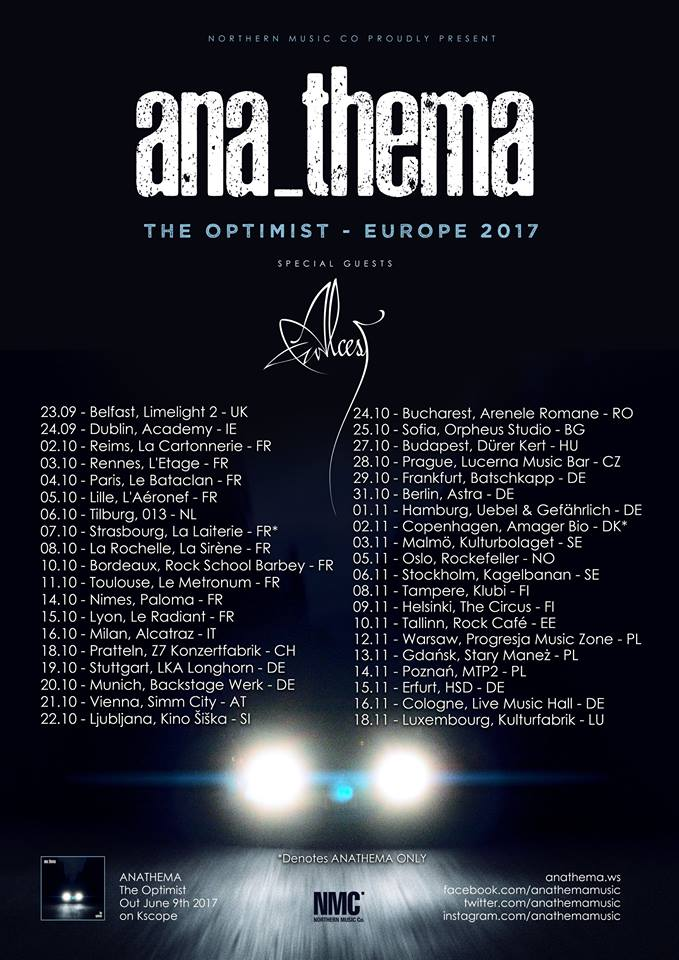 Anathema  The Optimist Tour