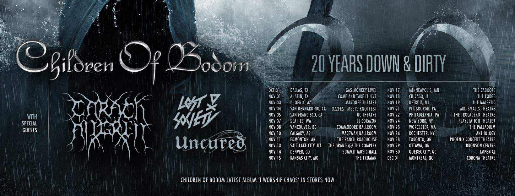Children Of Bodom Tour 2017
