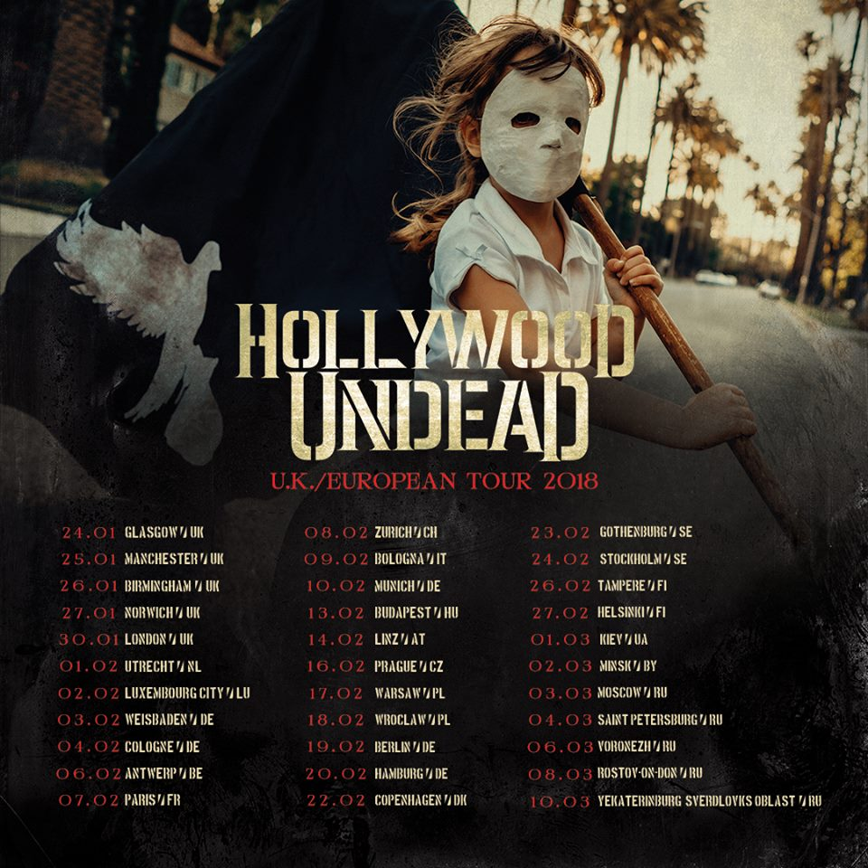 Hollywood Undead Tour 2018