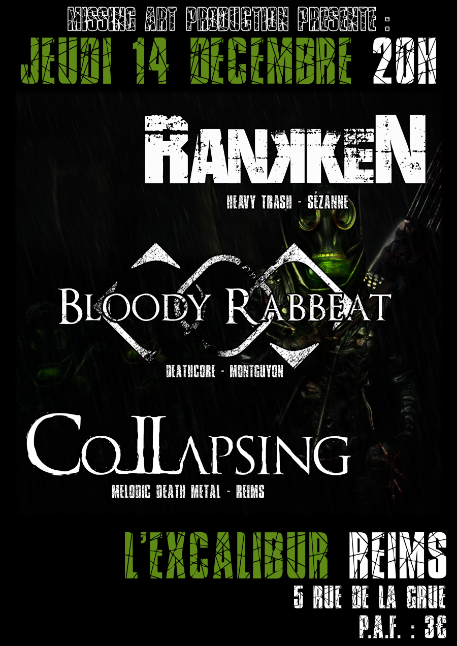 Bloody Rabbeat, Rankken, Collapsing