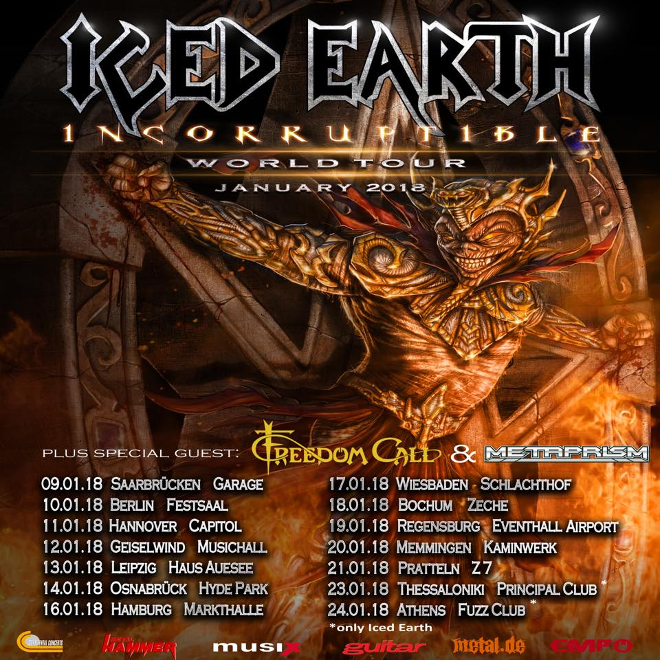 Iced Earth - Tour 2018