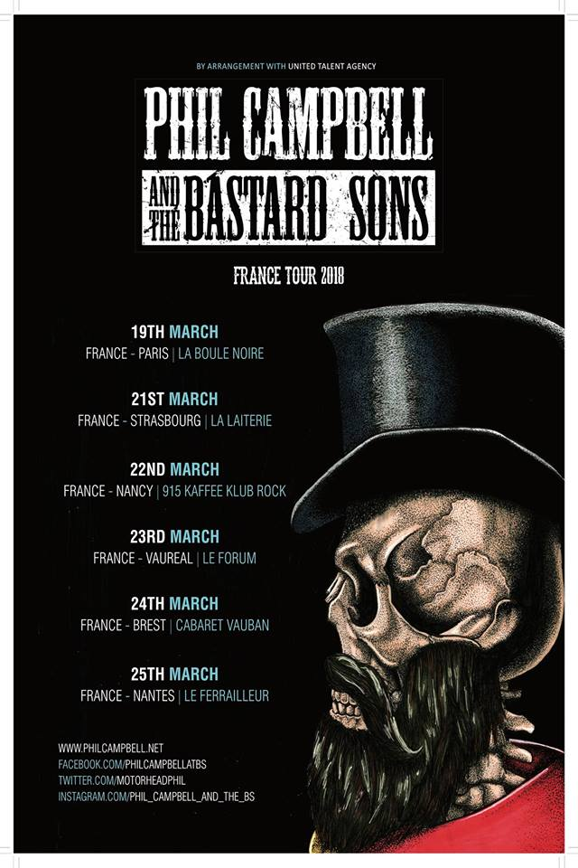 Phil Campbell & The Bastard Sons - Tour 2018