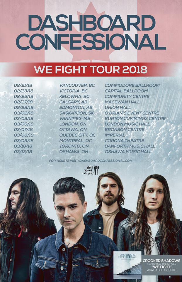 Dashboard Confessional - Tour 2018