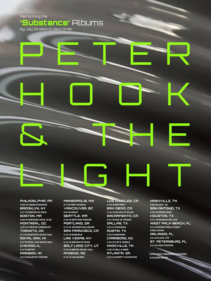 Peter Hook And The Light - Tour 2018