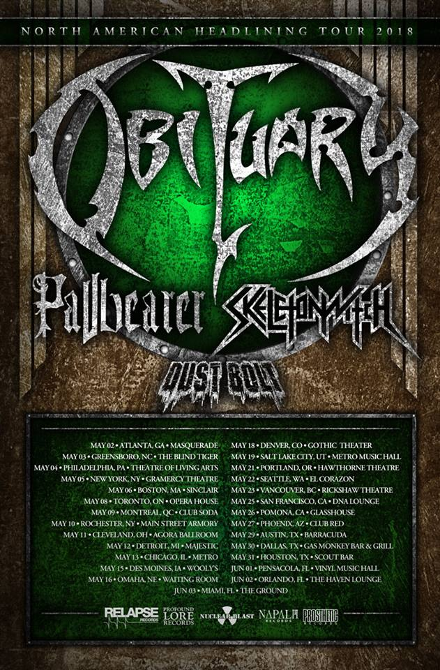 Obituary - Tour 2018