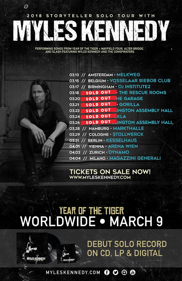 Myles Kennedy - Tour 2018