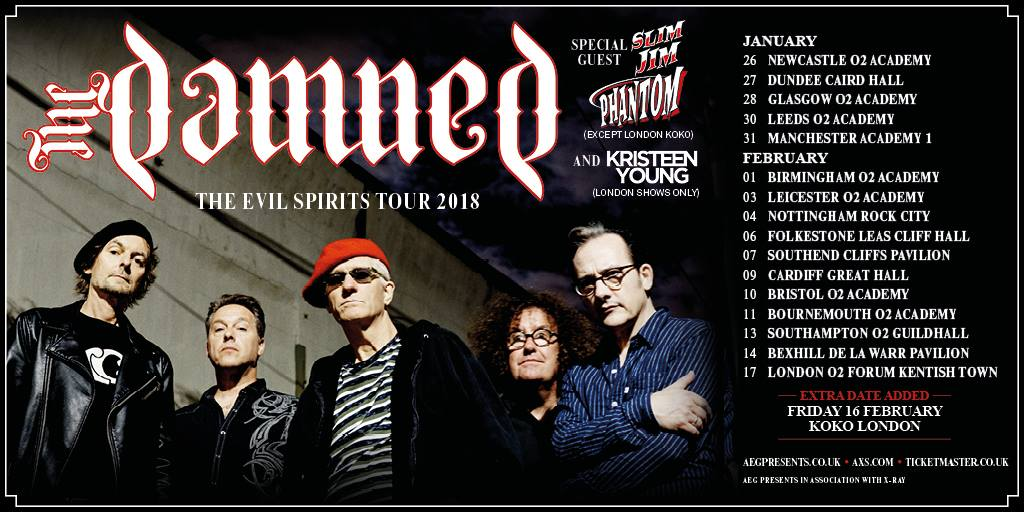 The Damned - Tour 2018