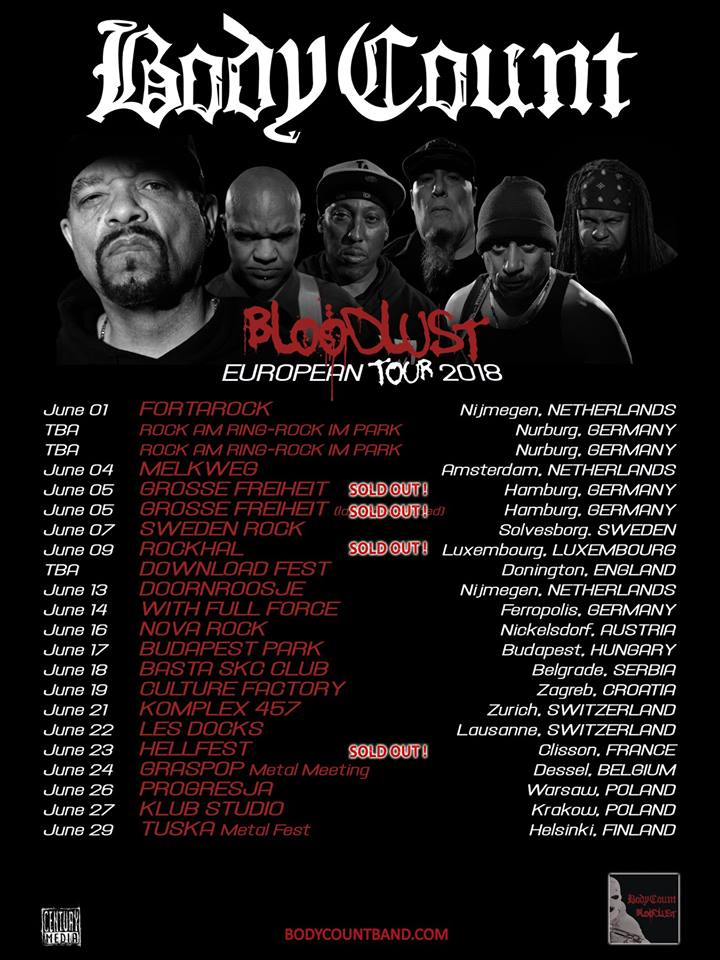 Body Count - Tour 2018