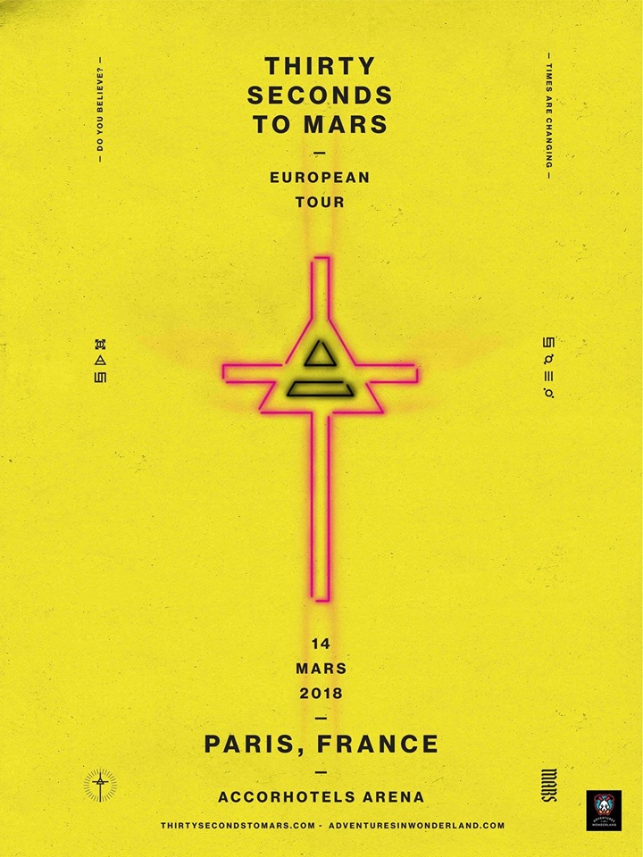 30 Seconds To Mars - Tour 2018