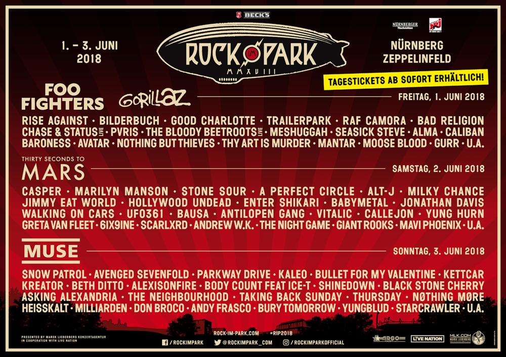 Rock im Park 2018 - 01/06/2018 (3 jours) - Nuremberg ...