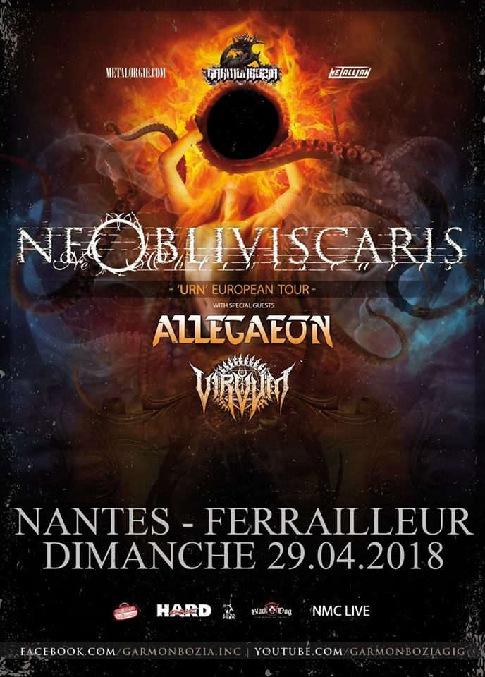 Ne Obliviscaris - Tour 2018