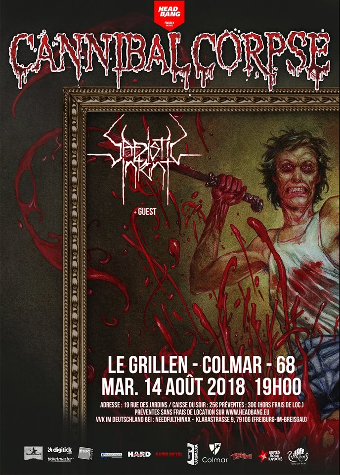 Cannibal Corpse - Tour 2018
