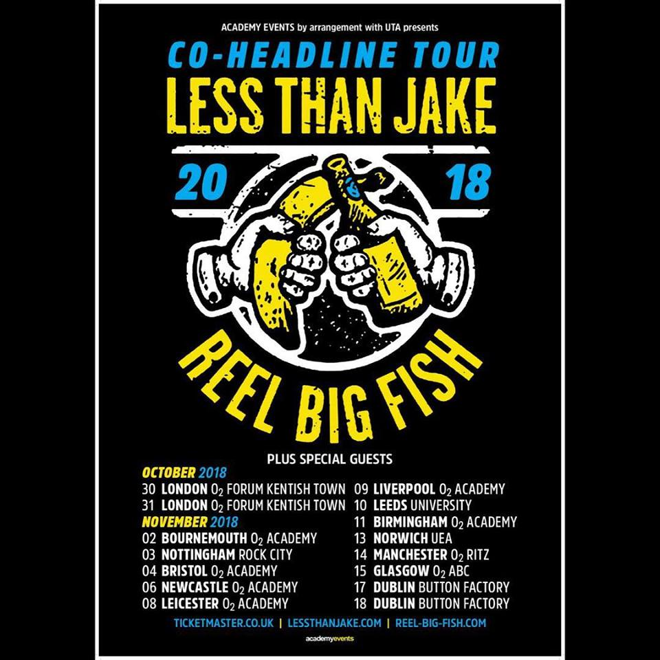 Less Than Jake - Tour 2018