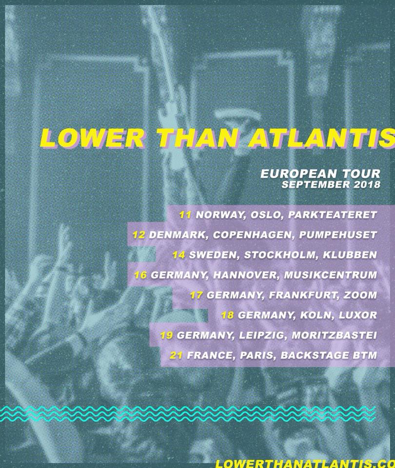 Lower Than Atlantis - Tour 2018