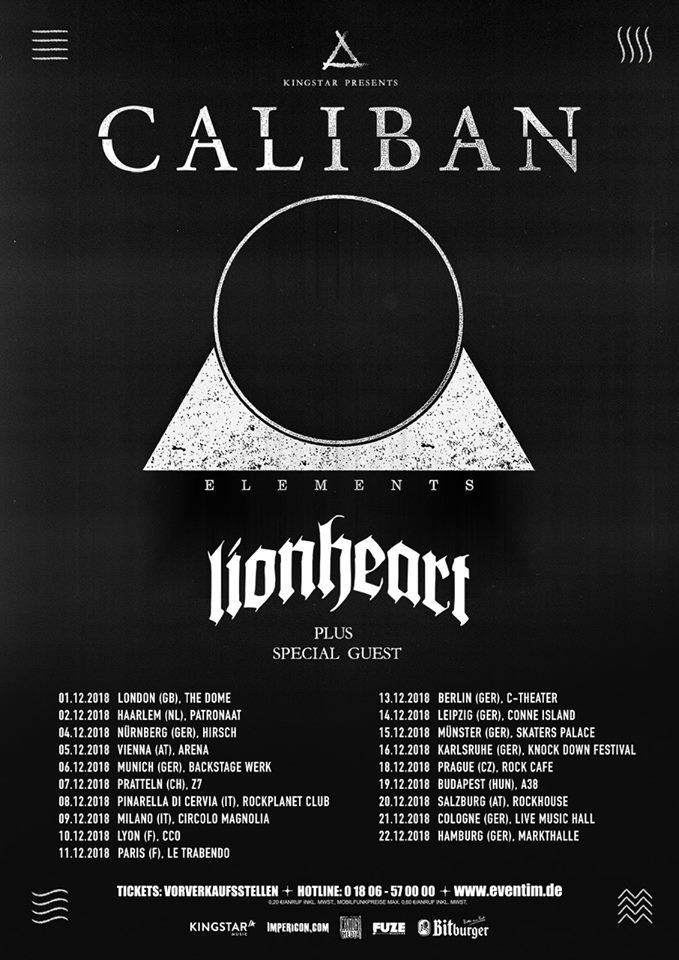 Caliban - Tour 2018