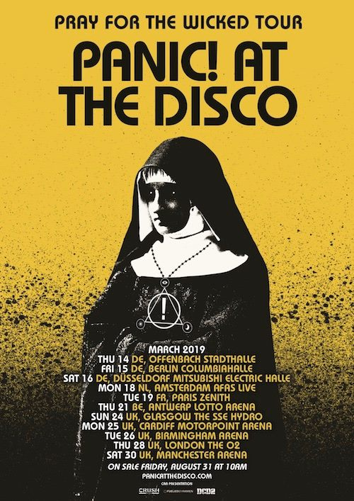 Wicked Tour 2020.Panic At The Disco Tour 2019 14 03 2019 Offenbach