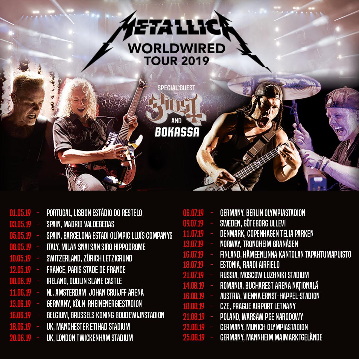 Metallica Tour 2020.Metallica Tour 2019 09 07 2019 Gothenburg Bohusl