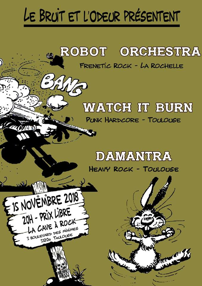 Robot Orchestra / Damantra / Watch It Burn