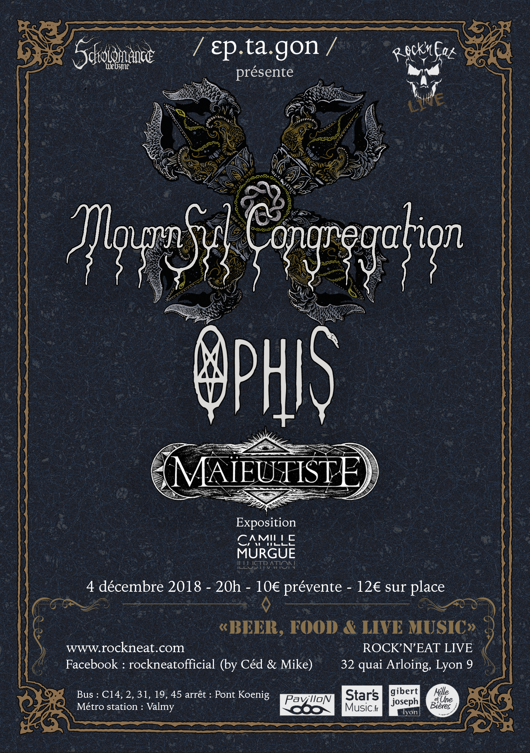 Mournful Congregation / Ophis / Maïeutiste