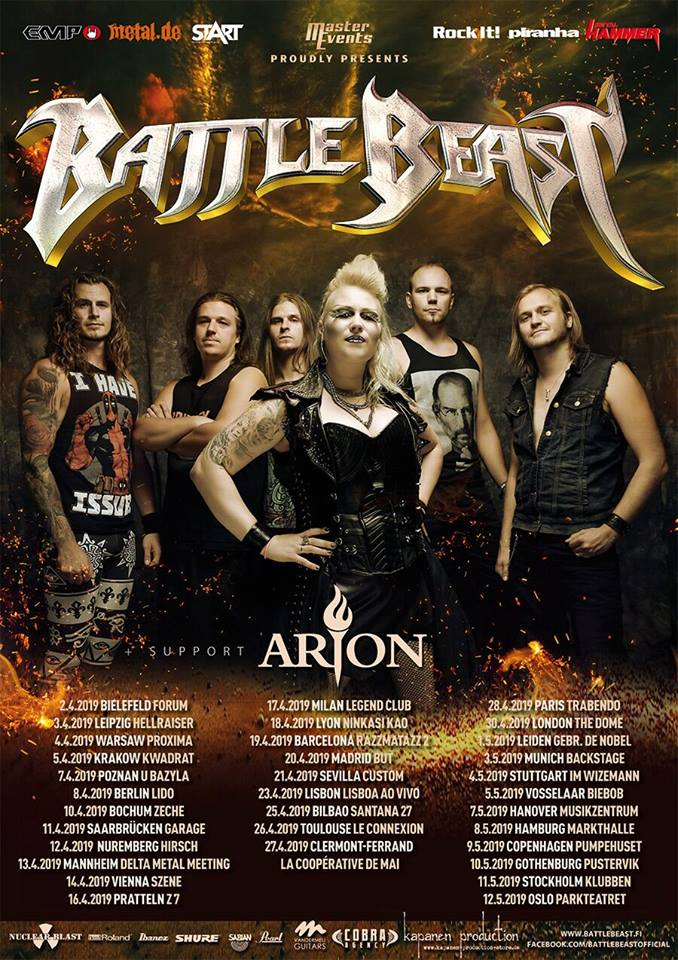 Battle Beast - Tour 2019