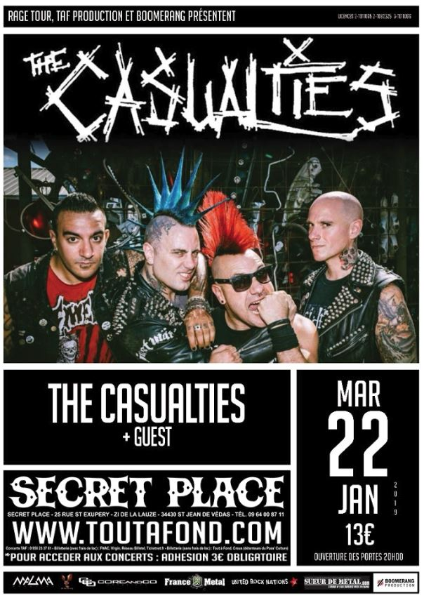 The Casualties - Tour 2019