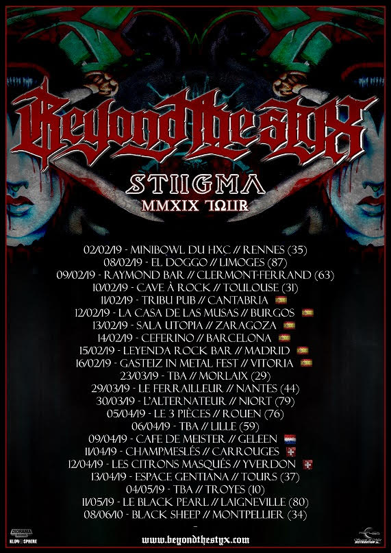 Beyond The Styx - Tour 2019