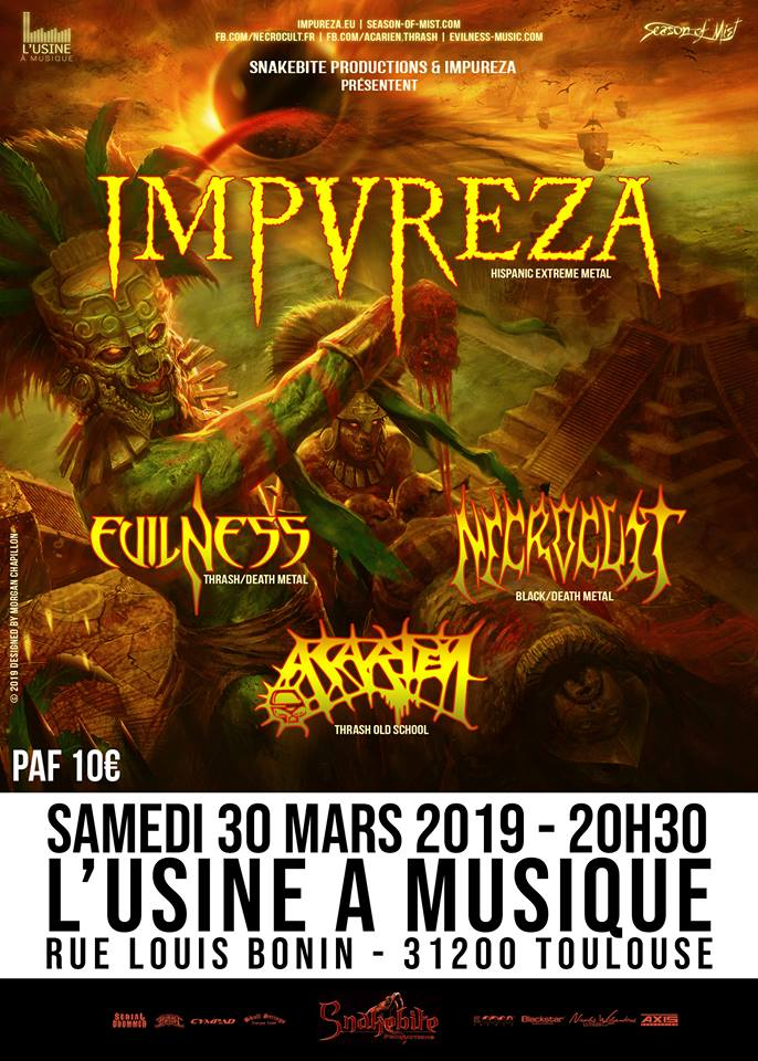Impureza, Necrocult, Evilness, Acarien
