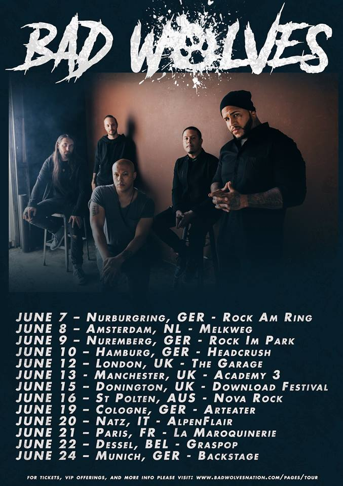 Bad Wolves - Tour 2019